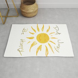 Dont worry be happy sunshine design  Rug