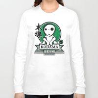 kodama Long Sleeve T-shirts featuring Kodama Sake by adho1982
