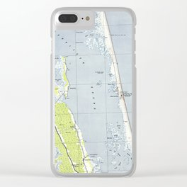 Vintage Northern Outer Banks Map (1940) Clear iPhone Case