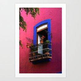 Balconies of Puebla  Art Print