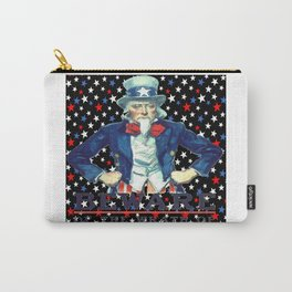 Beware The Wrath Of  A Patient Man Patriotic Star Carry-All Pouch