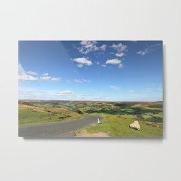 Driving through the English Countryside Metal Print
