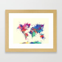 world map 105 #worldmap #map Framed Art Print