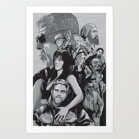 sons of anarchy Art Prints featuring Sons of Anarchy by Denis O'Sullivan