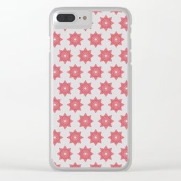 Pink Twinkling Star Seamless Pattern Clear iPhone Case