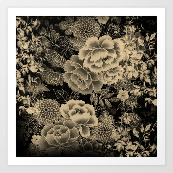 Vintage Floral Abstract Art Print
