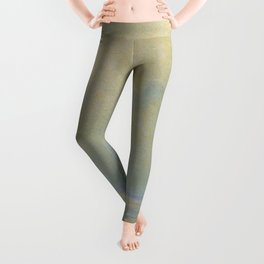 'Calma,' Rays of Sun reflecting on calm ocean waters seascape painting by Giorgio Belloni Leggings