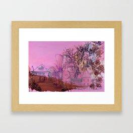 Everette Mansion Framed Art Print