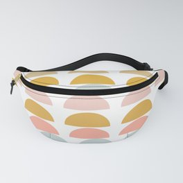 Geometric Half Circles Pattern in Earth Tones Fanny Pack