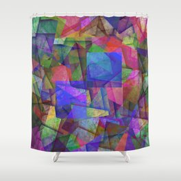 Pieces Of colour - Abstract, colour fragments Shower Curtain