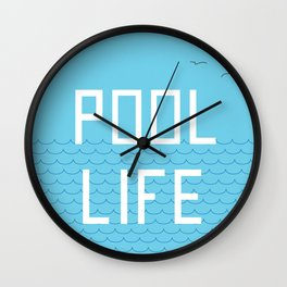Pool Life Swimmer Wall Clock