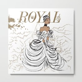 Lilly Royal Metal Print