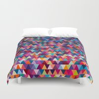 triangles Duvet Covers featuring Triangles by Ornaart