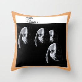 With the Beagles Throw Pillow