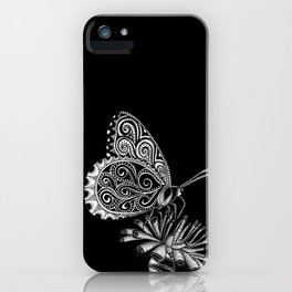 Tangled Butterfly on Black iPhone Case