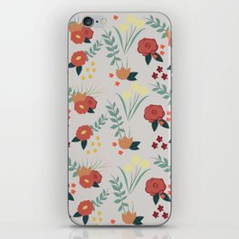 Vintage Floral Pattern iPhone Skin