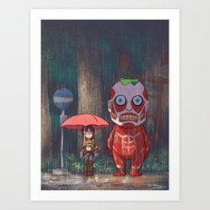 My Neighbor Titan Art Print