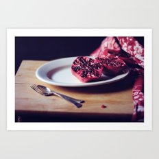 pomegranate, 2 Art Print