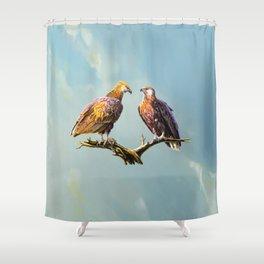 Madagascan Fish Eagle  Shower Curtain