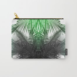 green and gray fern Carry-All Pouch