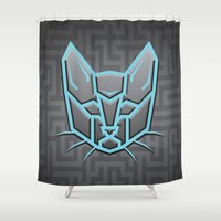 transformer Shower Curtains featuring Autocats Transformers by Enrique Valles
