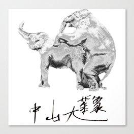 Zhong Shan ,Elephant Canvas Print