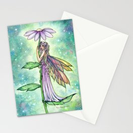 Starry Garden Flower Fairy Illustration by Molly Harrison Stationery Cards