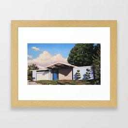 Blue Eichler With Clouds Framed Art Print