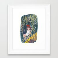 kiki Framed Art Prints featuring Kiki by Verity