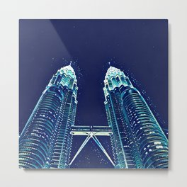 Petronas Remastered Metal Print