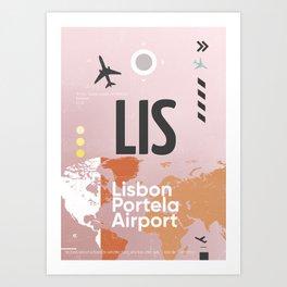 LIS airport Art Print