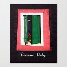 Burano Italy Canvas Print
