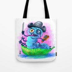 pirate worm Tote Bag