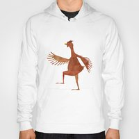 chicken Hoodies featuring Chicken by Jade Young Illustrations