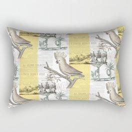 Vintage Tropical Cockatoo Pattern Rectangular Pillow