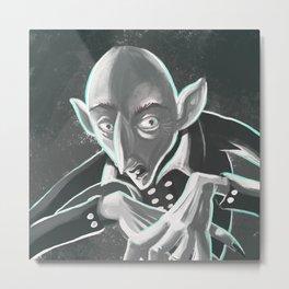 creepy spooky nosferatu Metal Print