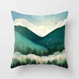 Emerald Hills Throw Pillow