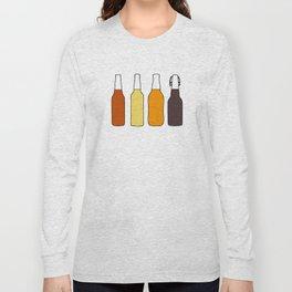 Vintage Beer Bottles Long Sleeve T-shirt