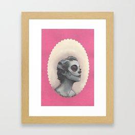 dia de los muertos portrait Framed Art Print