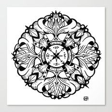 Compass Mandala Canvas Print