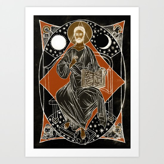 Christ Enthroned Art Print