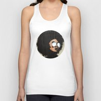 afro Tank Tops featuring Venus Afro by Vin Zzep
