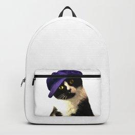 Cat Blue Hat Backpack