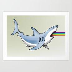 Rainbow Shark Art Print