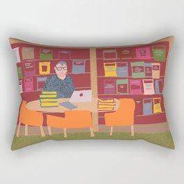 Sam, the researcher: National Library of Australia Rectangular Pillow