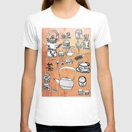 Chinese Tea Doodles 2 T-shirt