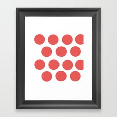 CirclePink Framed Art Print