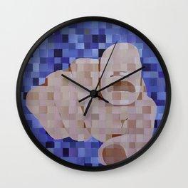 It's You Blue Pixels Wall Clock