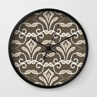 "deco Wall Clocks featuring ""Deco"" by Juliagrifol designs"