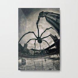 Along Came a Spider - b/n Metal Print